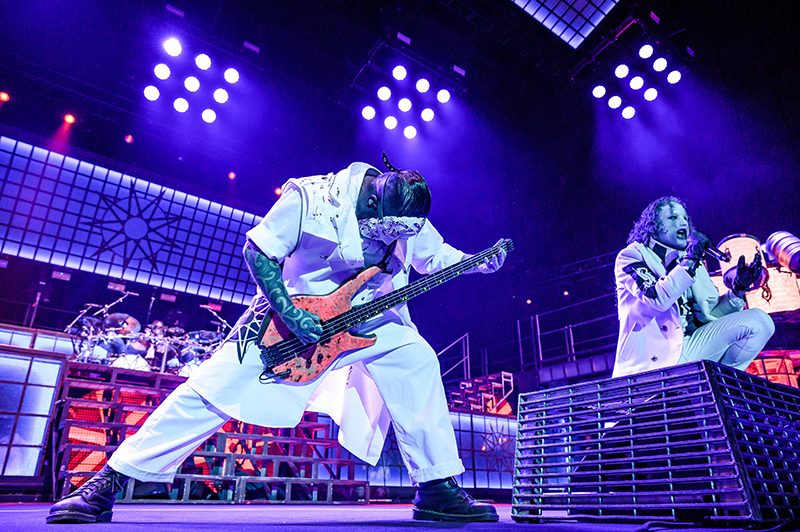 Rage and metal echo out as Slipknot performs at the Knotfest Roadshow.