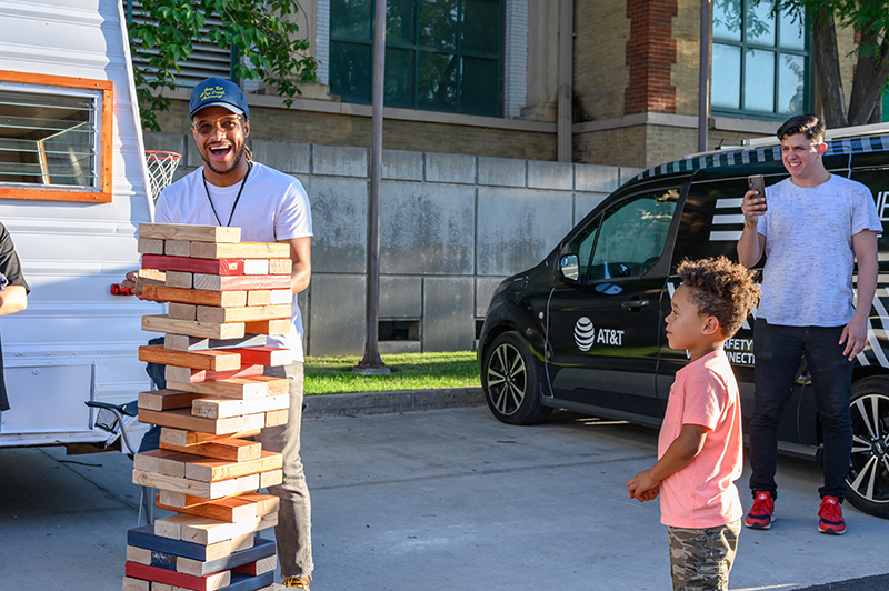 Giant Jenga is always a good time.