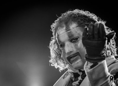 Corey Taylor of Slipknot performing at the Knotfest Roadshow at the USANA Amphitheatre.