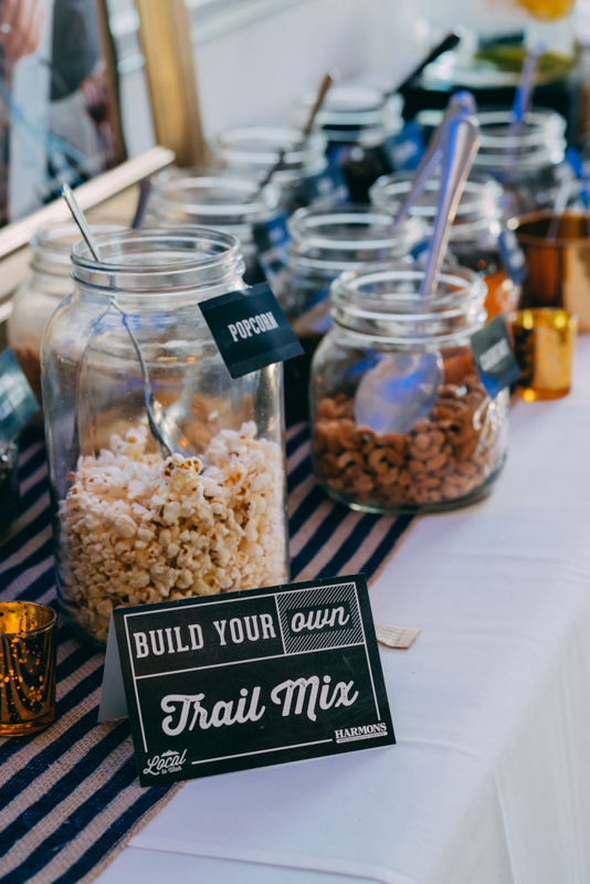 Harmons had a build-your-own-trail-mix bar for you to take your snacks on the road while you wander the Festival.