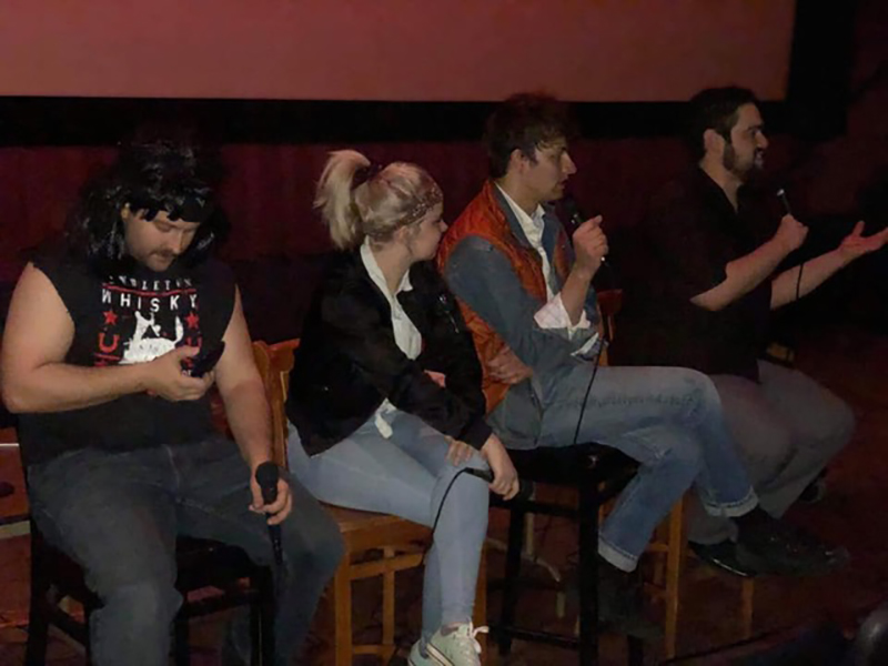 The Crowdsourced Comedy crew in action at a Front Row Film Roast