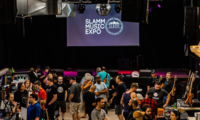 A view of the crowd at the SLAMM Music Expo.