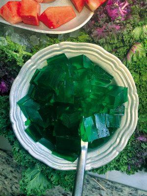 Chuck-A-Rama's signature green Jell-O.