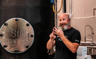 During distillery tours, Chris Cross explains how their iStill offers an advanced and unique distilling process, enhancing the quality of their spirits.