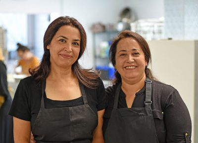 Zaater & Zayton owners/chefs/sisters Mayyadah Saihood and Sahad Al Abadi cook delicious Middle Eastern cuisine via Spice Kitchen Incubator.