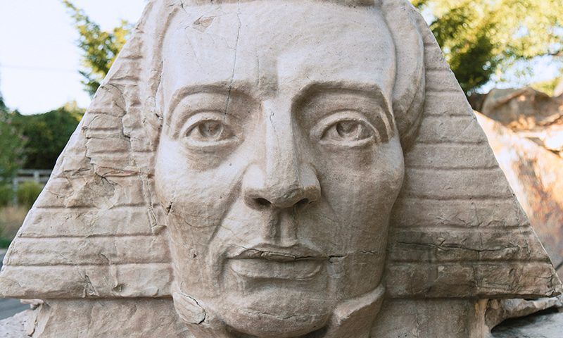The famed Joseph Smith Sphinx at Gilgal Sculpture Garden.