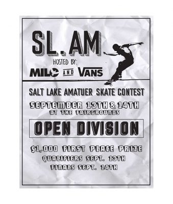 Promotional poster for the SLAM competition.