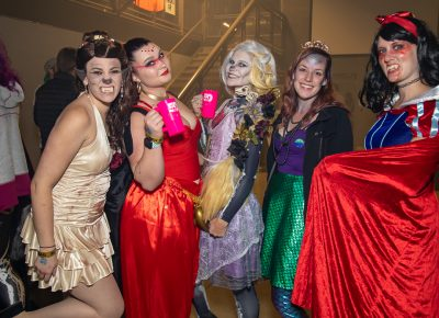 L–R) The Beasts of Disney toured Brewstillery: Nina Canning as Belle the Werewolf, Ashlee Williams as Jasmin Djinn, Alexis Hadnagy as Rapunzel Skeleton, Jordan Stevens as Siren Little Mermaid and Analeah Vaughn as Vampire Snow White.