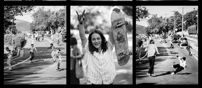 A collage of photos from Go Skateboarding Day