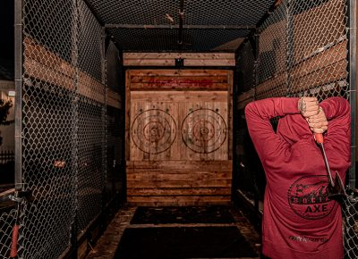 The fine folks at Social Axe Throwing brought out their mobile rig for attendees to enjoy.