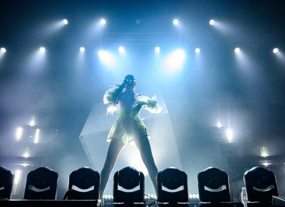 British star Charli XCX kicks off her performance in Salt Lake City at The Complex.