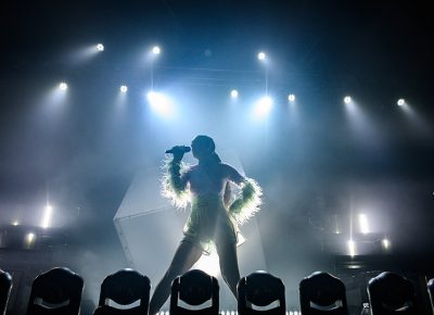 Poised majestically, Charli XCX serenades her SLC fans.