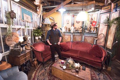 As Mister Pauper, Provo-based artist Jake Buntjer uses found objects and antique curios to build strange worlds from his imagination.