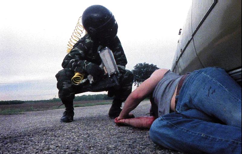 Still from Nail Gun Massacre