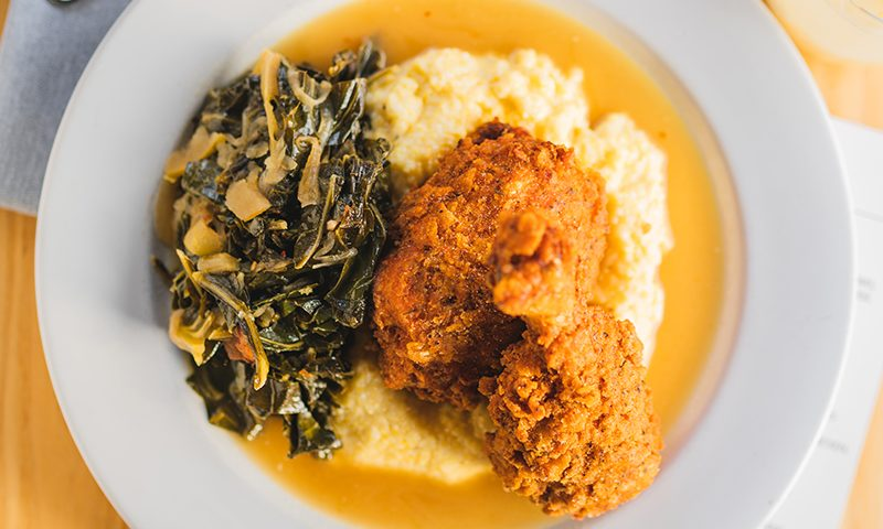 The Fried Chicken's hint of sweetness is a unique element that gently introduces the dish to the palate.