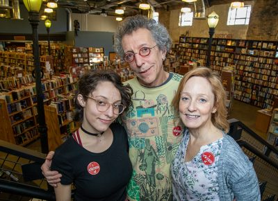 (L–R) Lila, Tony and Catherine Weller carry on the Weller Book Works legacy while in tandem modernizing and revolutionizing the business with each generation.