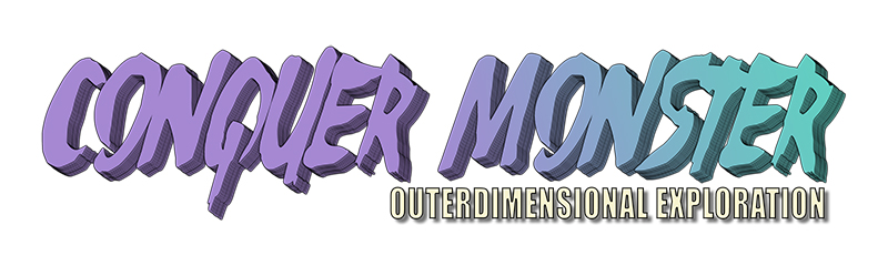 The logo for Conquer Monster's Outerdimensional Exploration.