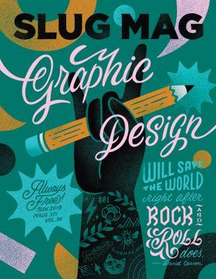 Ann Chen's cover design for SLUG's November 2019 issue.