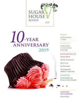 The celebratory cover for Sugar House Review's 10th Anniversary Issue.
