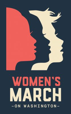 Nicole LaRue's poster design for the Women's March on Washington.