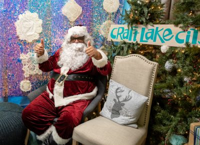 Santa was happy to greet guests at Craft Lake City's Holiday Market.