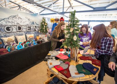 Ogden Wear brought some O-Town flavor to Craft Lake City's Holiday Market at The Monarch on 25th Street.