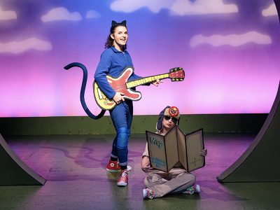 Jacob Weitlauf and Cameron Aragon in Pete the Cat.