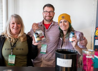 Rooster's beer and Five Wives vodka kept Craft Lake City's patrons smiling as they wandered from booth to booth at the Holiday Market.