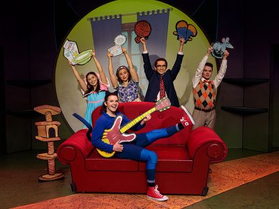 Cameron Aragon, Jacob Weitlauf, Shelby Andersen, Trayven Call and Joseph Paul Branca in Pete the Cat.