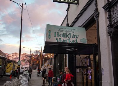 Entrance to the Holiday Market.