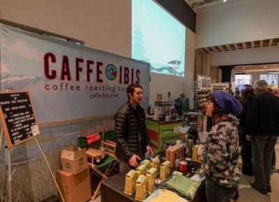 Caffe Ibis showing of the various coffees they offer.