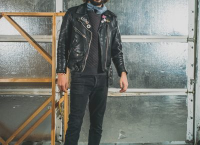 """""""With the leather jacket, it's like one of my favorite stories ever,"""" says Montoya. """"I was breaking up with my Australian girlfriend over the phone at an underground party where there was a pop-up shop from Cosmic Wolf Vintage, and she had had this jacket for years. Nobody bought it and I bought it for 30 bucks."""""""