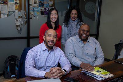 IXP's James Jackson III, Shawn Newell, Sara Jones and Sui Lang L.