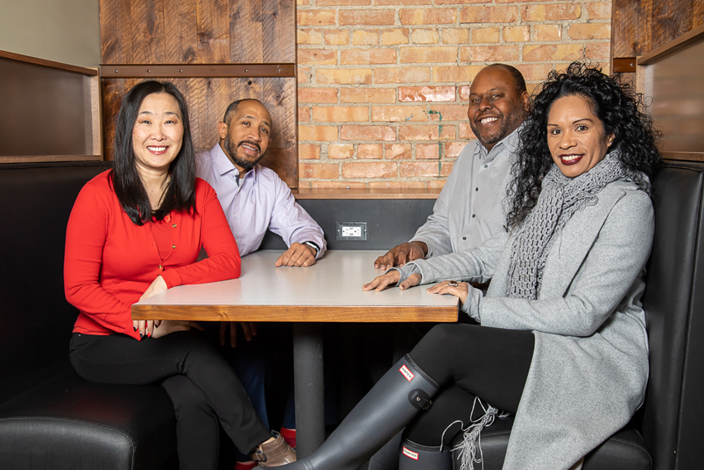 (L–R) Inclusion Experience Project's Sara Jones, James Jackson III, Shawn Newell and Sui Lang L. Panoke provide tools for local businesses and their leaders to champion diversity.