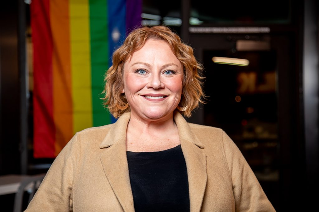 Jessica Couser practices being an active ally to the LGBTQ+ Community by using her law degree and experience to help trans people change their identity legally.