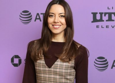 The talented Aubrey Plaza at the Premiere for Black Bear at the Sundance Film Festival 2020. Photo: Logan Sorenson (LmSorenson.net)