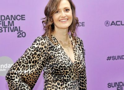 Clare Dunne posing for the premiere of Herself at the Sundance Film Festival 2020. Photo: Logan Sorenson (LmSorenson.net)