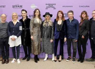 Cast and production pose for the new film Herself at the Sundance Film Festival 2020. Photo: Logan Sorenson (LmSorenson.net)