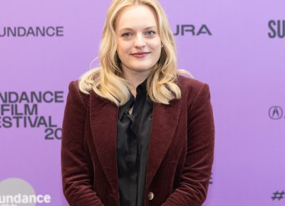 Elisabeth Moss at the red carpet premiere for her new film Shirley at the Sundance Film Festival 2020. Photo: Logan Sorenson (LmSorenson.net)