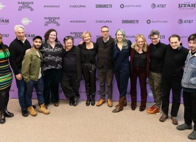 Members of the cast and production for the film Shirley at the red carpet premiere for the Sundance Film Festival 2020. Photo: Logan Sorenson (LmSorenson.net)