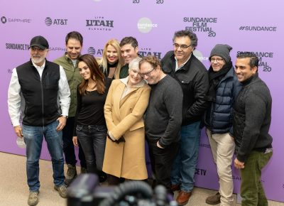 Cast and production members of the picture Four Good Days take some photos at the Sundance Film Festival 2020. Photo: Logan Sorenson (LmSorenson.net)