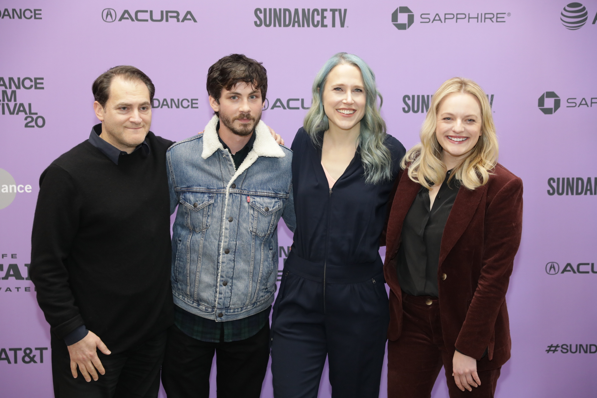 Cast of the new film, Shirley at the Eccles Theater for the Sundance Film Festival 2020. Photo by: Logan Sorenson (Lmsorenson.net)