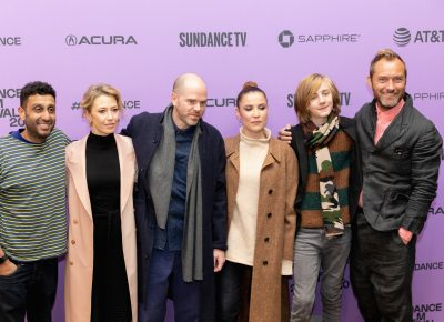 Cast and some production members for The Nest pose for a few photos during the red carpet premiere at the Sundance Film Festival 2020. Photo: Logan Sorenson (LmSorenson.net)
