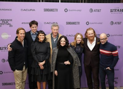 Cast and Production members for the new comedy Downhill at the Eccles Theater for the Sundance Film Festival 2020. Photo: Logan Sorenson