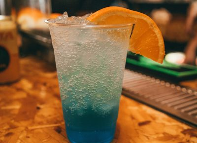 """One of the tasty drinks at the event. """"Beachmen The Ocean Pacific"""""""