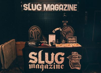 SLUG Magazine booth at the Localized event with all sorts of goodies.