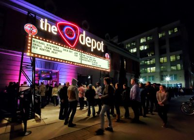 Lines made their way inside the Depot for the sold-out show with Michael Kiwanuka.