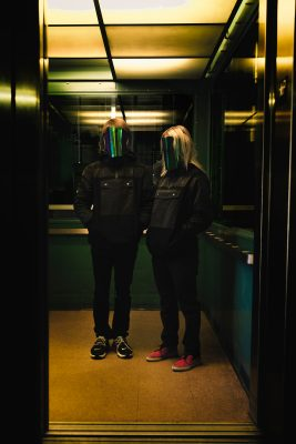 """The masked duo of Passive Refraction consists of two people, JXX and JXY—though, when performing together, the view themselves simply as one single J."""