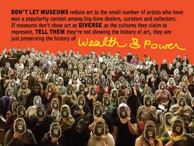 """Wealth & Power,"" 2016. Photo courtesy of guerrillagirls.com"