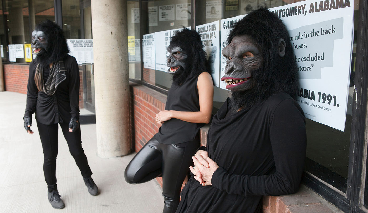 Guerrilla Girls at the Abrons Art Center, 2015.